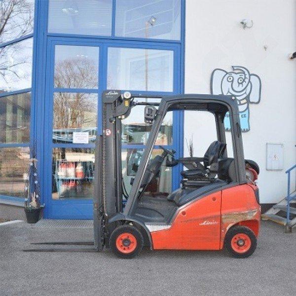 Použitý vysokozdvižný vozík plynový Linde H 14 T rok výroby 2014 - stav velmi dobrý