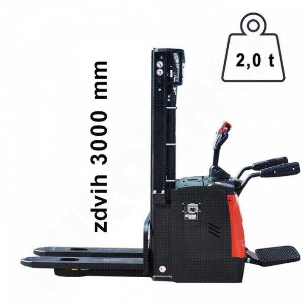 Vysokozdvižný ručně vedený vozík EUROliftCZ ES20RAS