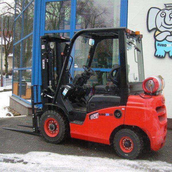 Čelní vysokozdvižné vozíky EUROliftCZ T8-20 BG - T8-25 BG pohon benzín_LPG