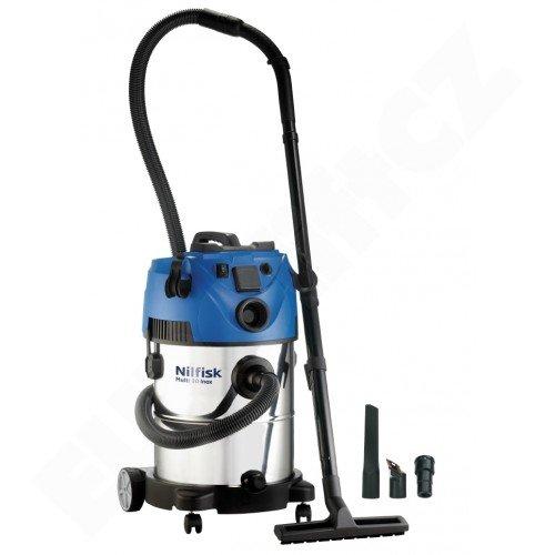 Mokrosuchý vysavač Nilfisk ALTO MULTI 30 T VSC INOX pro vysávání uvnitř i venku